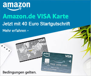 Die Amazon-Visa-Karte: Jetzt mit 40 Euro Startgutschrift